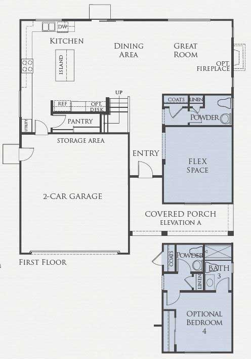 Residence Three Floorplan First Floor