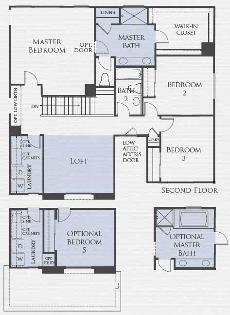 Residence Three Floorplan Second Floor